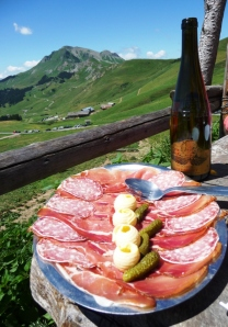 Alpine food and wine